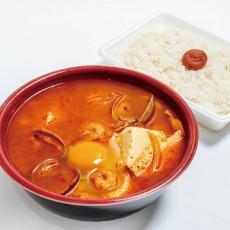 純豆腐チゲ(中辛) *ご飯付き。